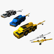 Airport tow truck & tow bar 3d model