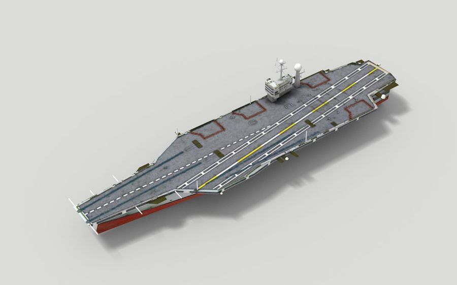 Aircraft carrier royalty-free 3d model - Preview no. 4