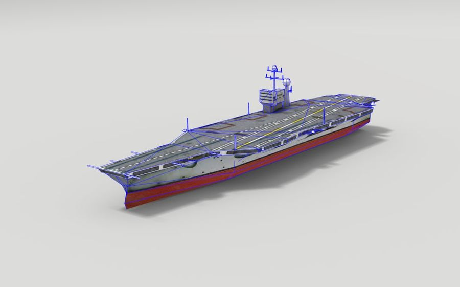 Aircraft carrier royalty-free 3d model - Preview no. 2