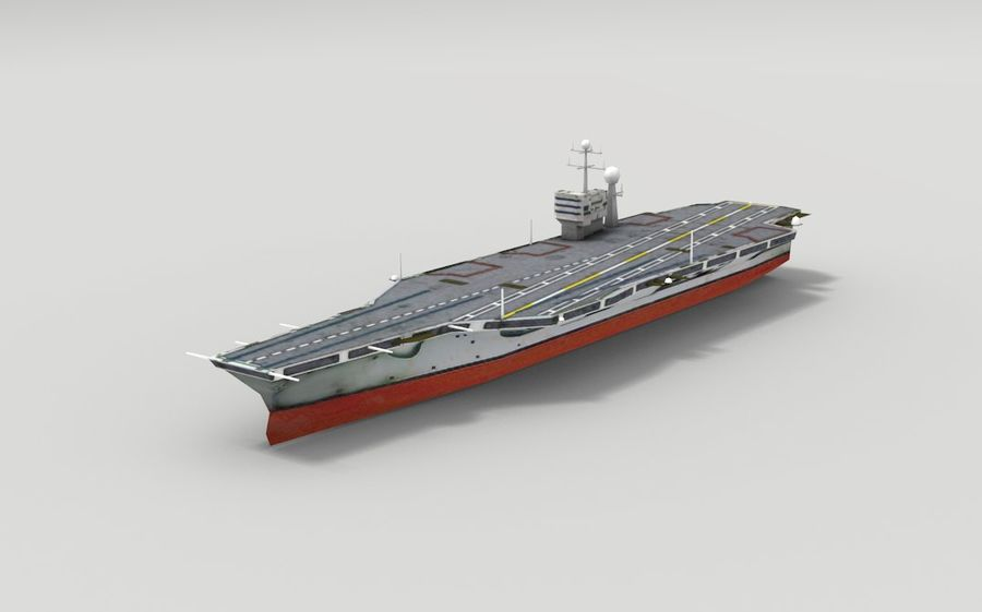 Aircraft carrier royalty-free 3d model - Preview no. 1