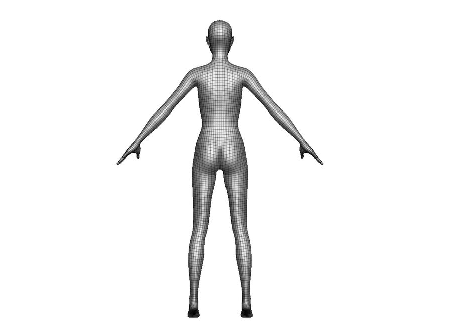 Modèle de base féminin royalty-free 3d model - Preview no. 5