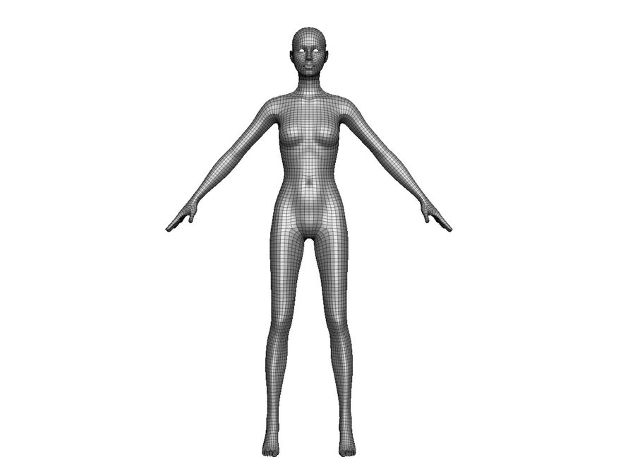 Modèle de base féminin royalty-free 3d model - Preview no. 4