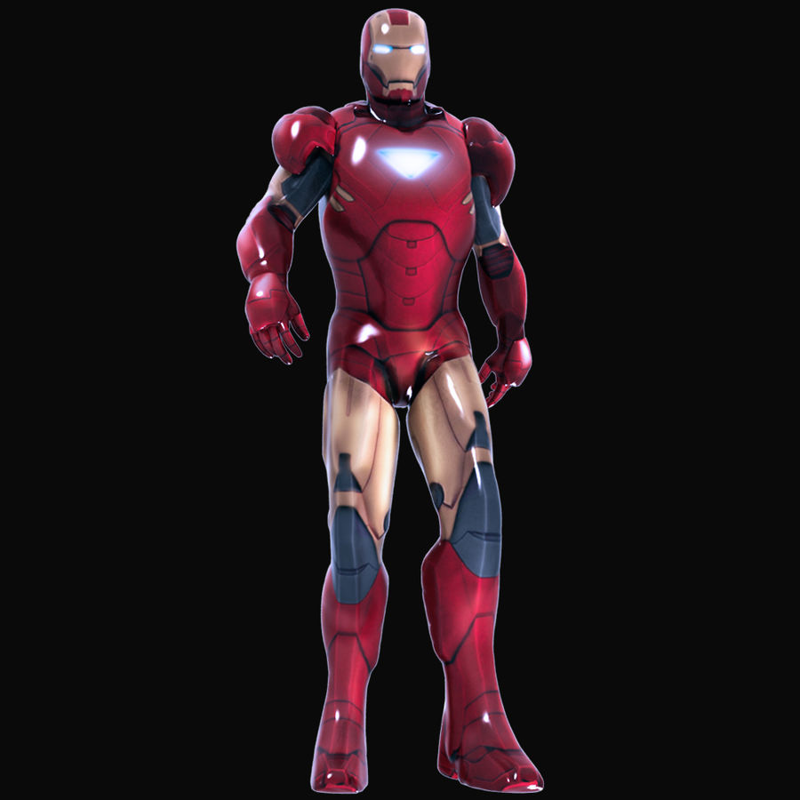Iron Man royalty-free 3d model - Preview no. 9