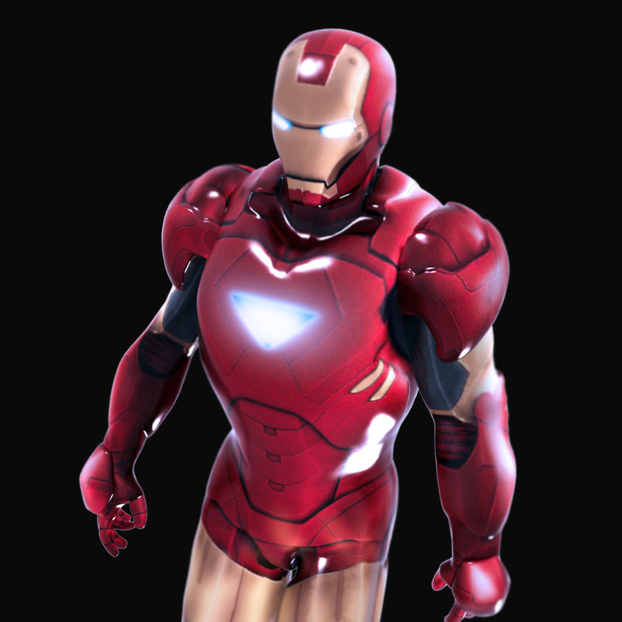 Iron Man royalty-free 3d model - Preview no. 7