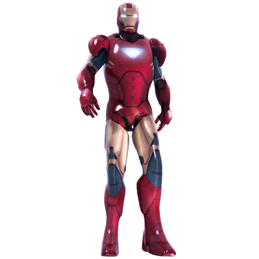 Iron Man royalty-free 3d model - Preview no. 8