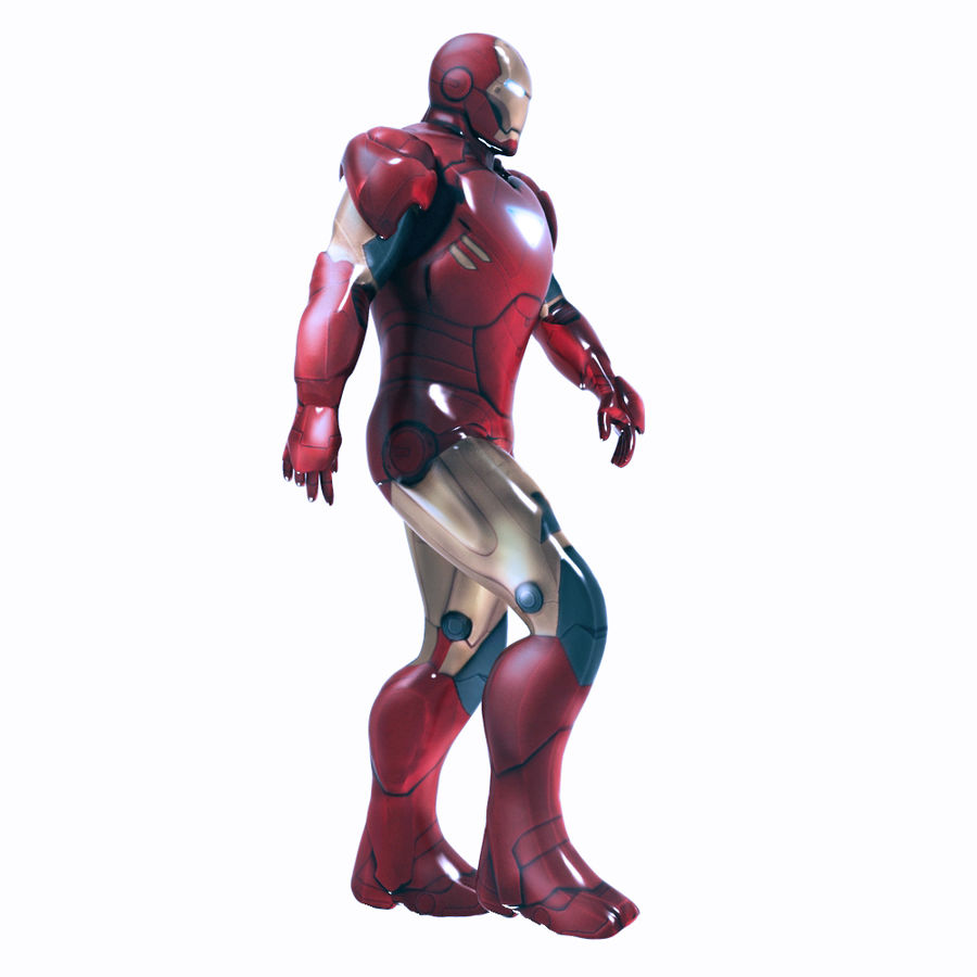 Iron Man royalty-free 3d model - Preview no. 5