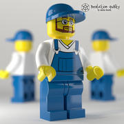 Lego Müllmannschaft 3d model