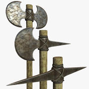 Greek Hoplite Axe and Pick Set 3d model