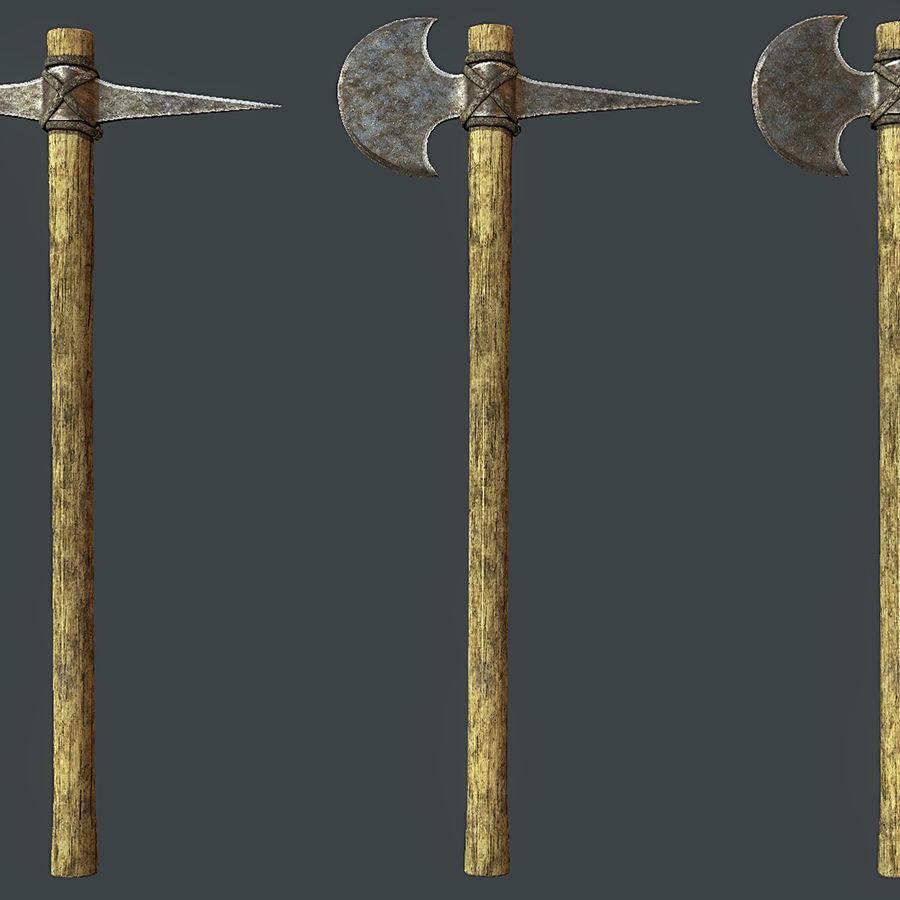 Greek Hoplite Axe and Pick Set royalty-free 3d model - Preview no. 3