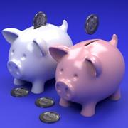 Pig coin bank 3d model