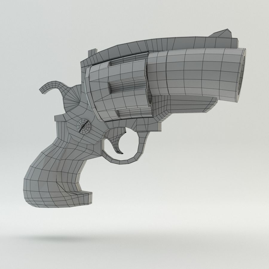 Revolver Cartoon royalty-free 3d model - Preview no. 6