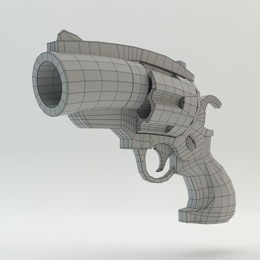 Revolver Cartoon royalty-free 3d model - Preview no. 8
