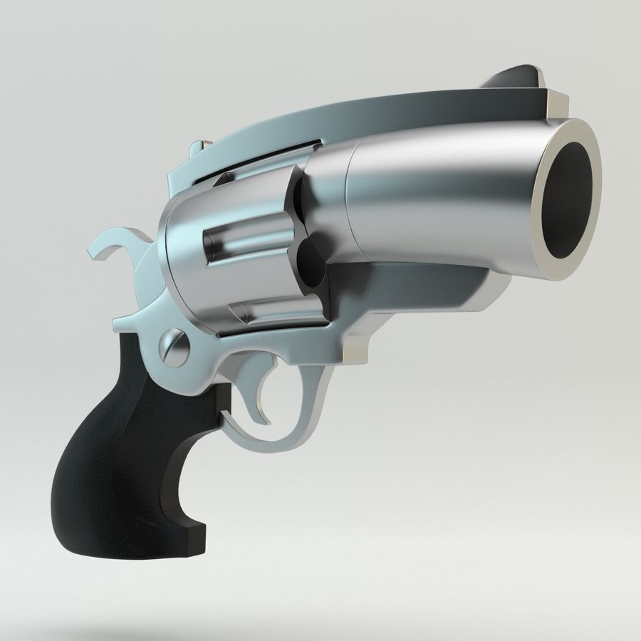 Revolver Cartoon royalty-free 3d model - Preview no. 1