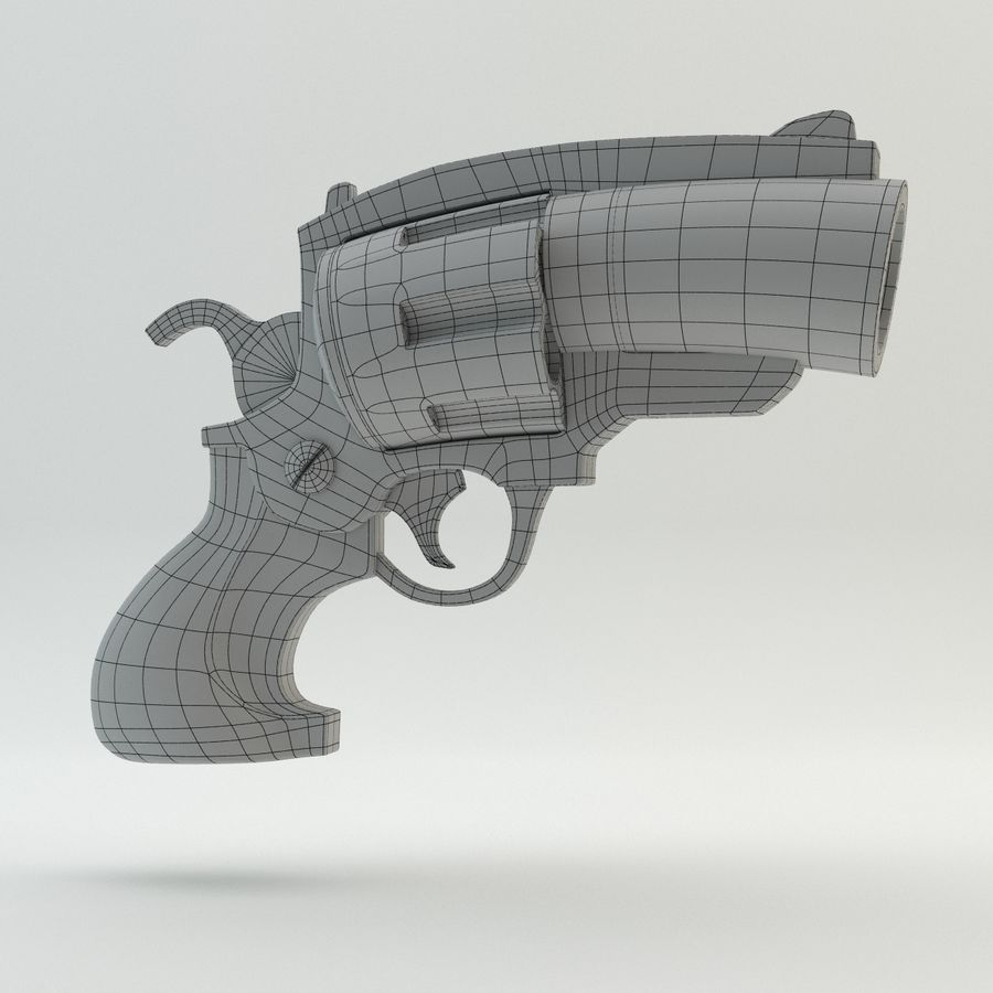 Revolver Cartoon royalty-free 3d model - Preview no. 5