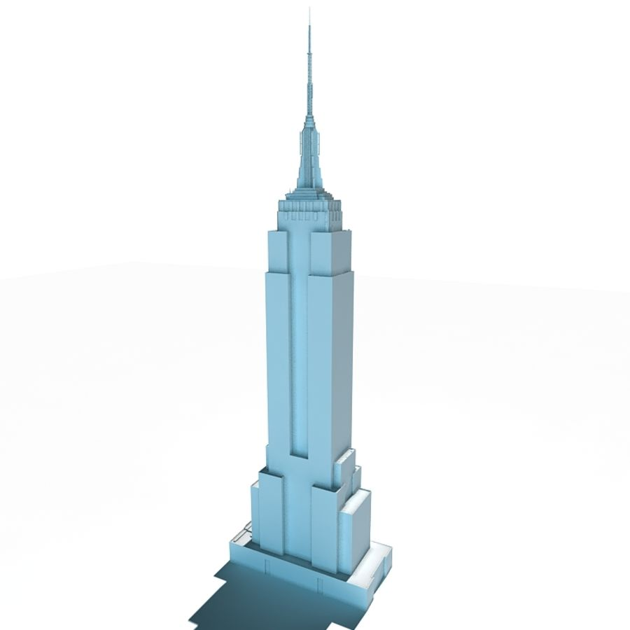 empire state building low 3d model 19 obj ma max lwo fbx