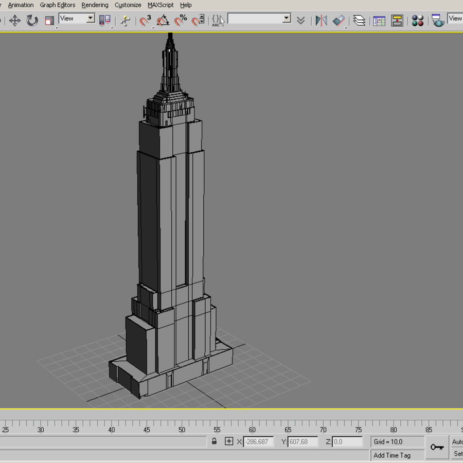 Empire State Building Low royalty-free 3d model - Preview no. 11