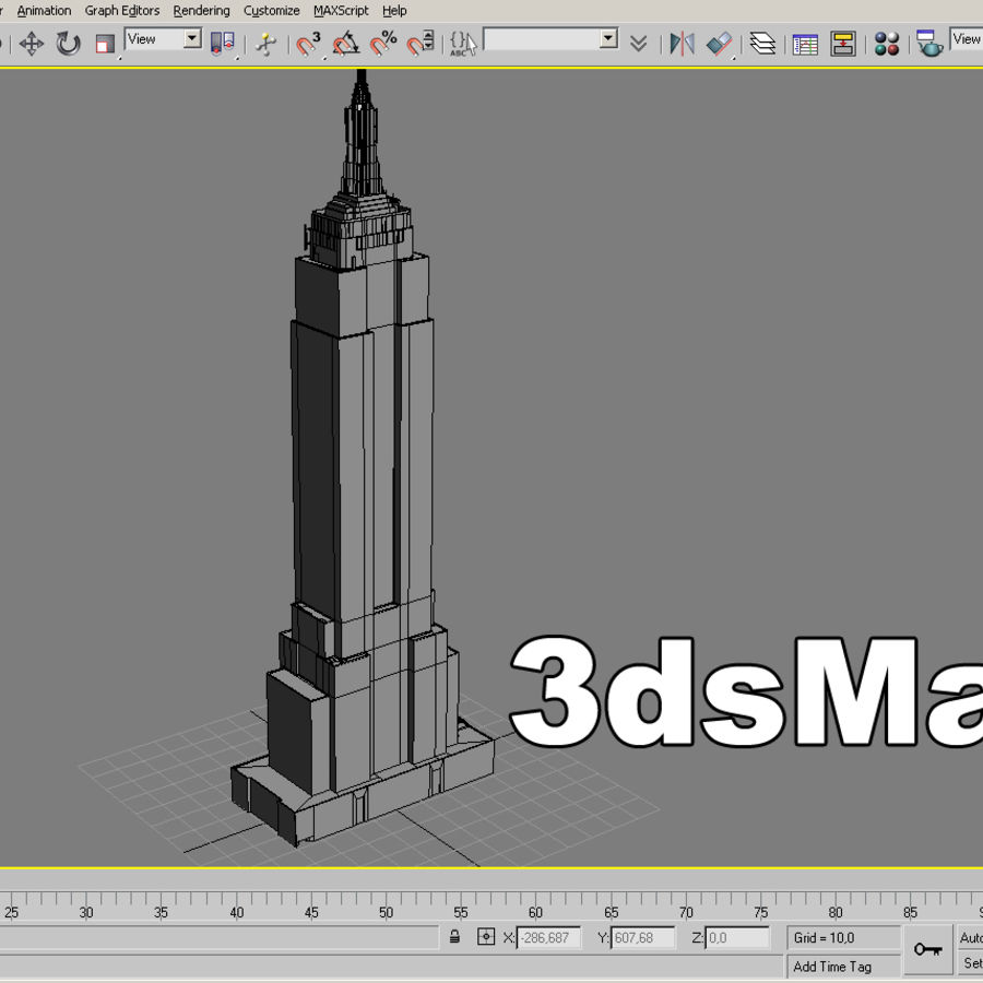 Empire State Building Low royalty-free 3d model - Preview no. 12