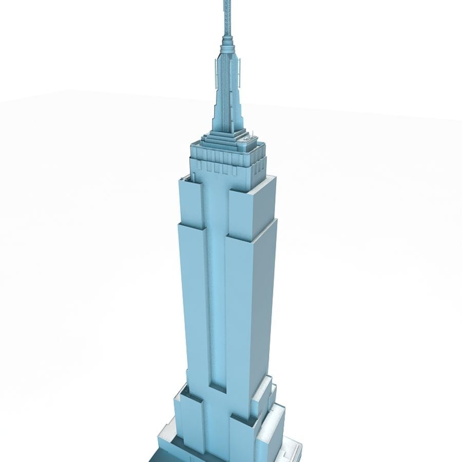 Empire State Building Low royalty-free 3d model - Preview no. 5