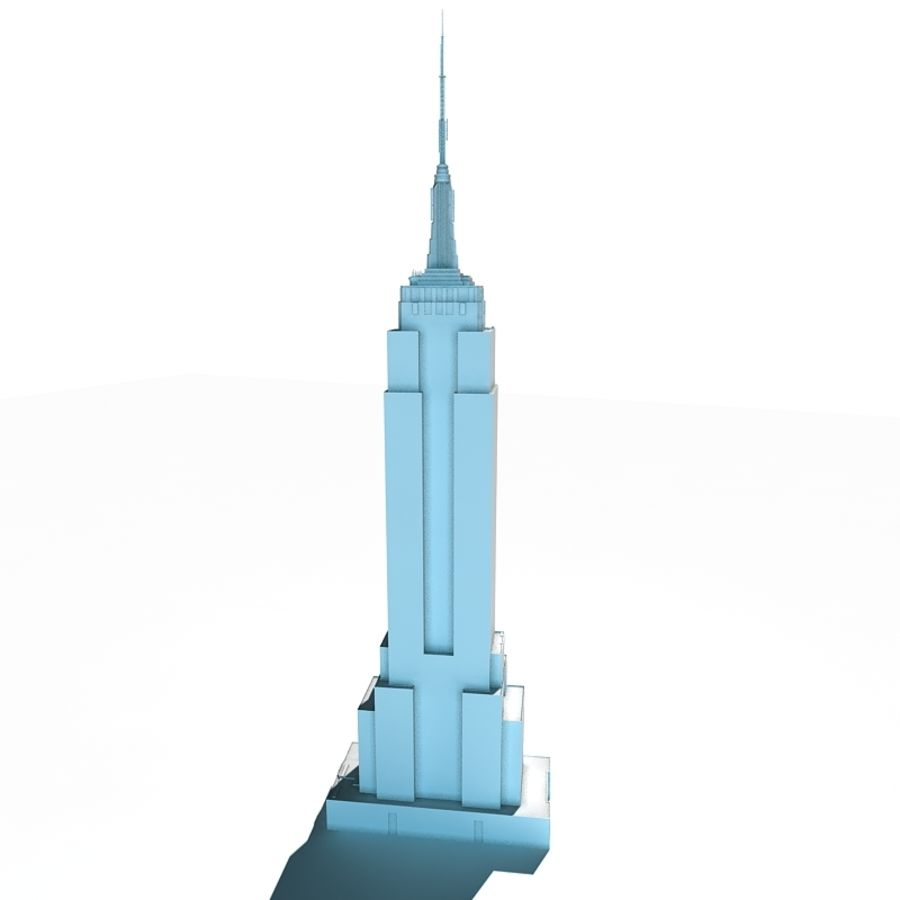 Empire State Building Low royalty-free 3d model - Preview no. 2