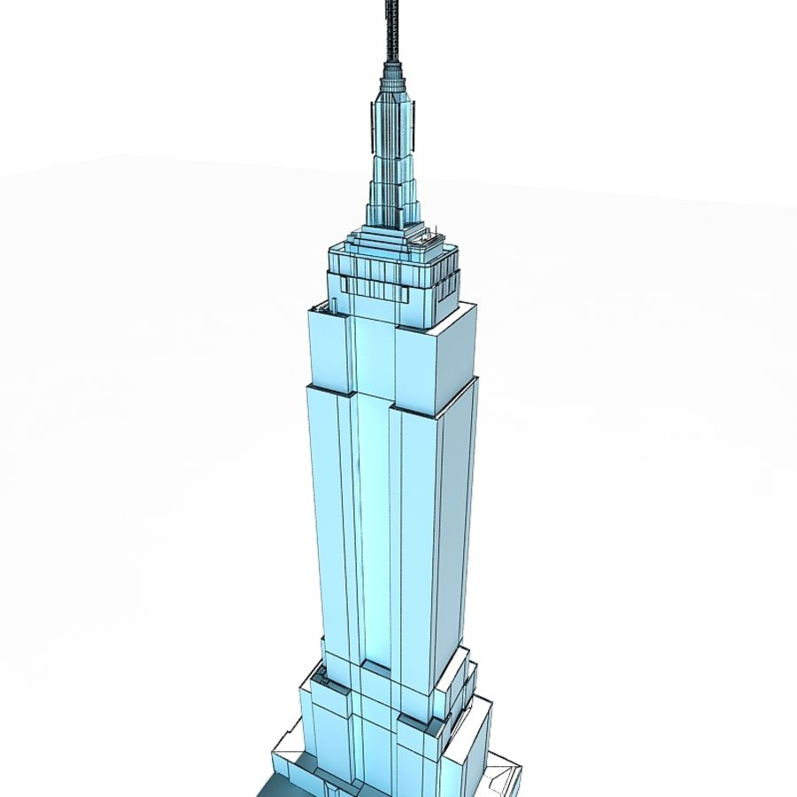 Empire State Building Low royalty-free 3d model - Preview no. 6