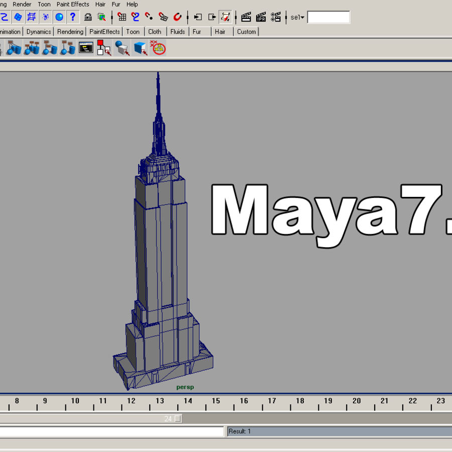 Empire State Building Low royalty-free 3d model - Preview no. 8