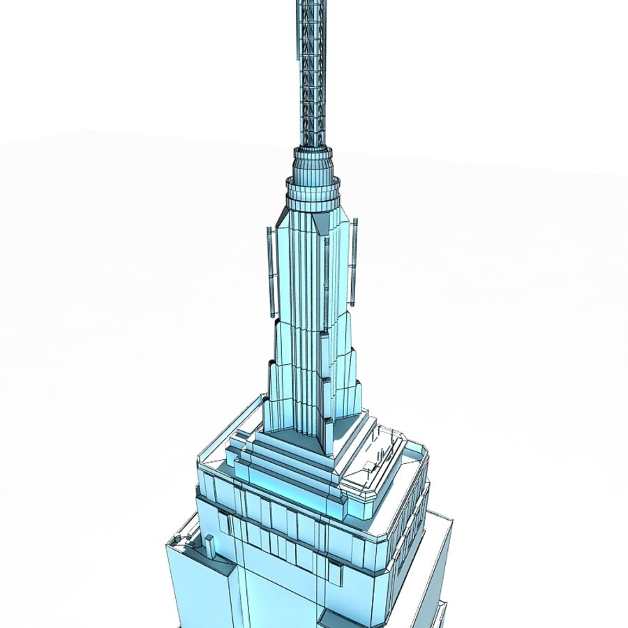 Empire State Building Low royalty-free 3d model - Preview no. 7