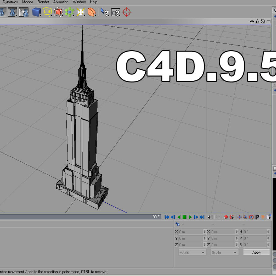 Empire State Building Low royalty-free 3d model - Preview no. 9