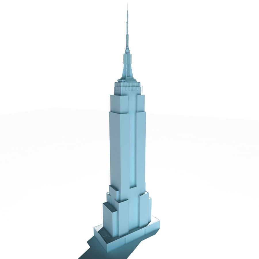 Empire State Building Low royalty-free 3d model - Preview no. 3