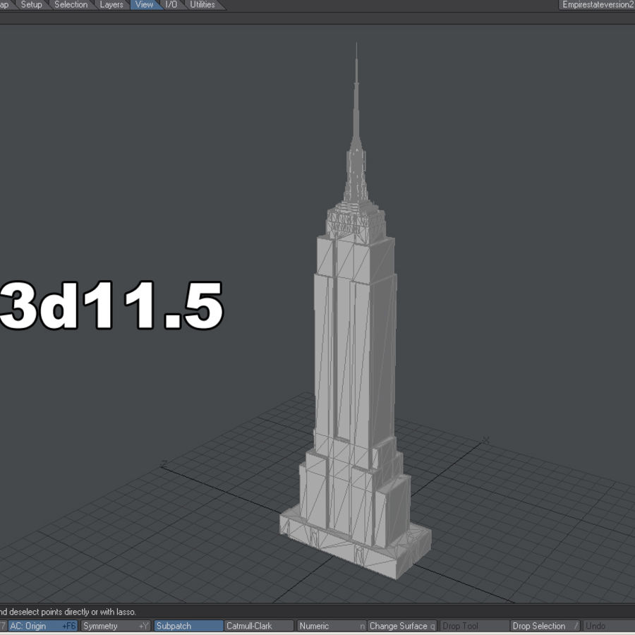 Empire State Building Low royalty-free 3d model - Preview no. 13
