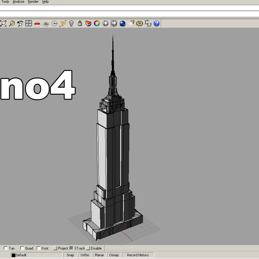 Empire State Building Low royalty-free 3d model - Preview no. 10