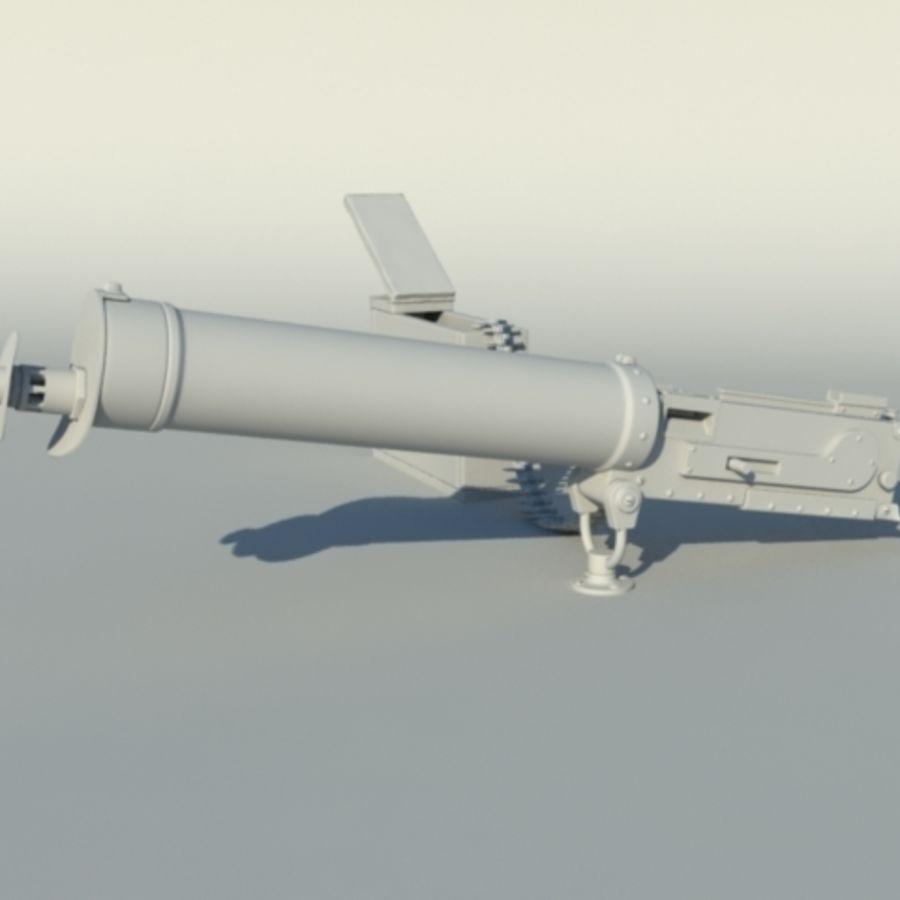 Maxim Gun royalty-free 3d model - Preview no. 1