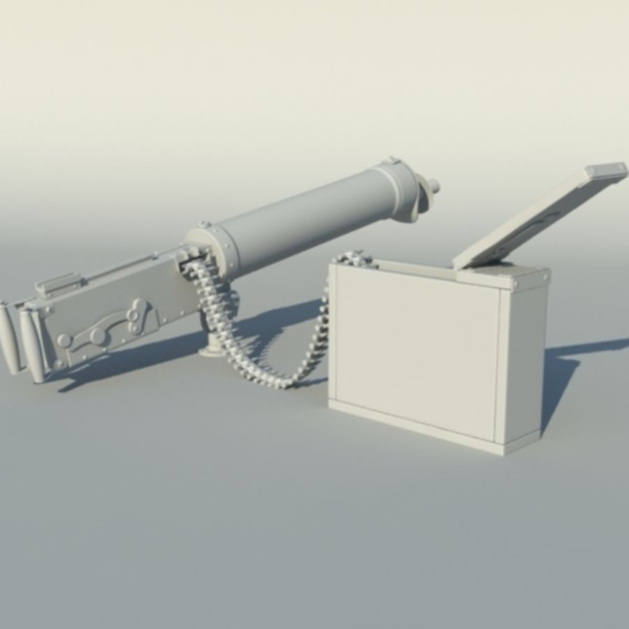 Maxim Gun royalty-free 3d model - Preview no. 5