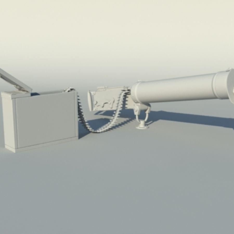 Maxim Gun royalty-free 3d model - Preview no. 3