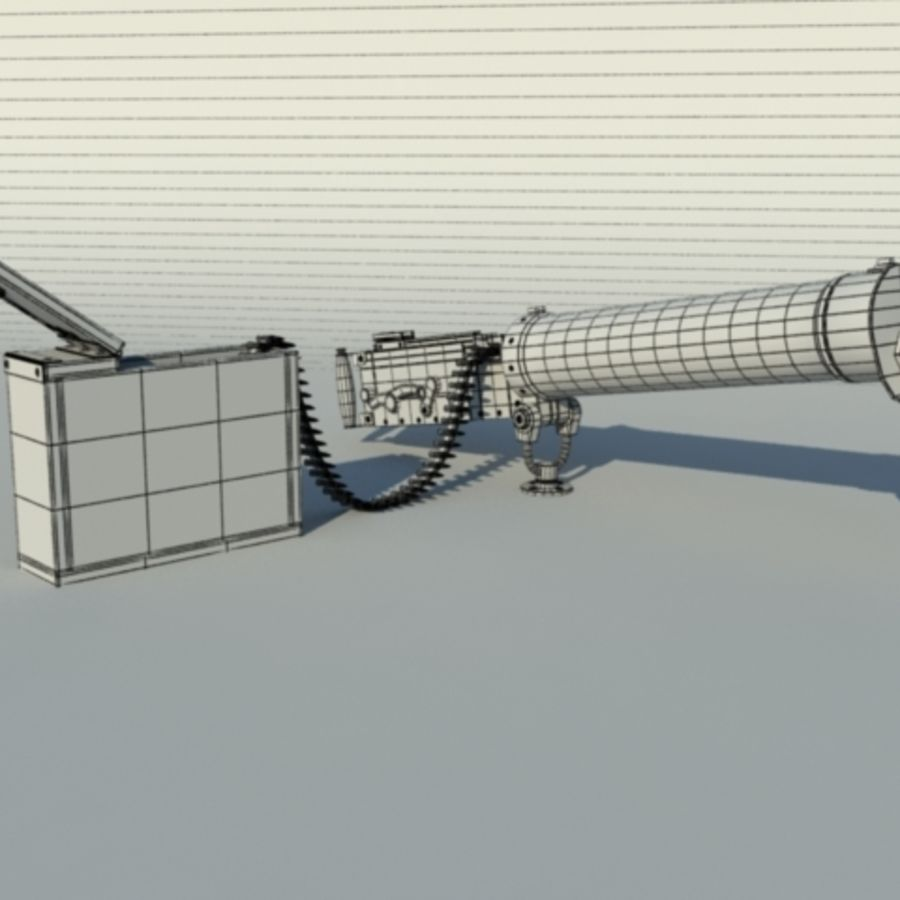 Maxim Gun royalty-free 3d model - Preview no. 4