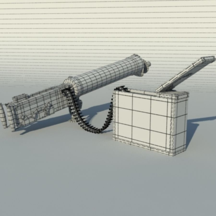 Maxim Gun royalty-free 3d model - Preview no. 6