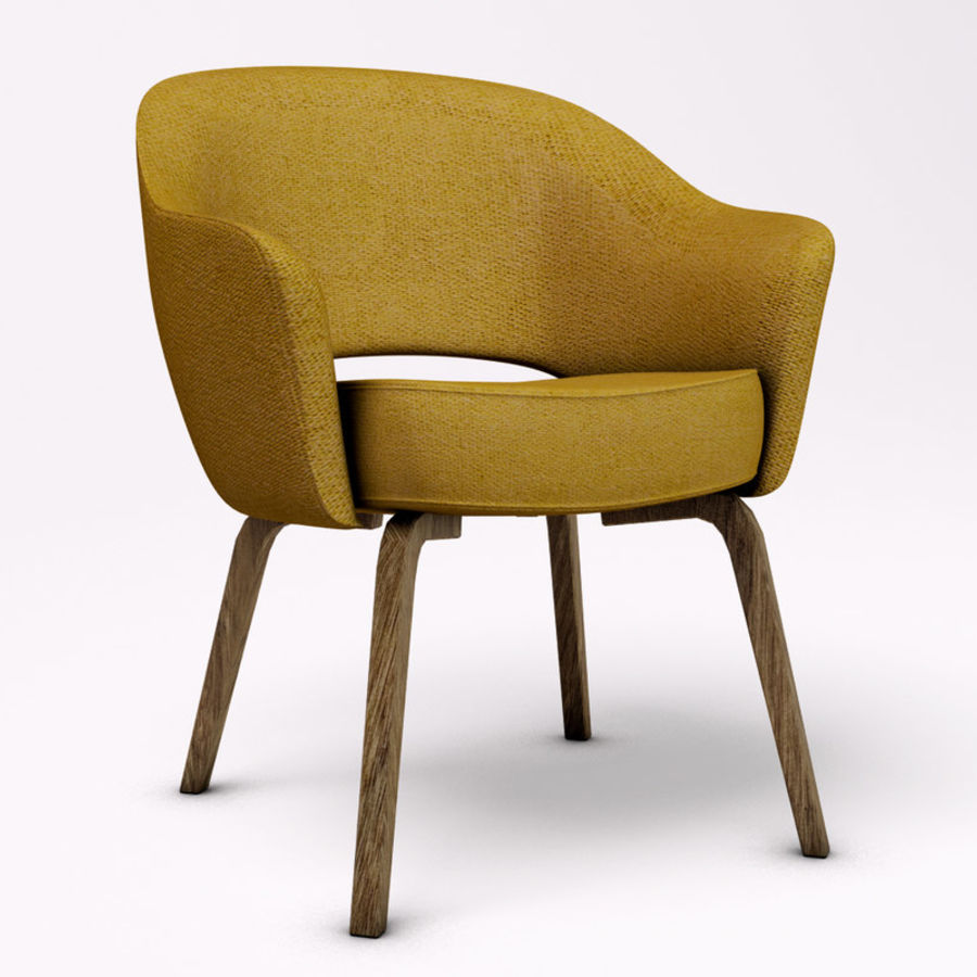 Knoll Saarinen Armchair Royalty Free 3d Model Preview No 1