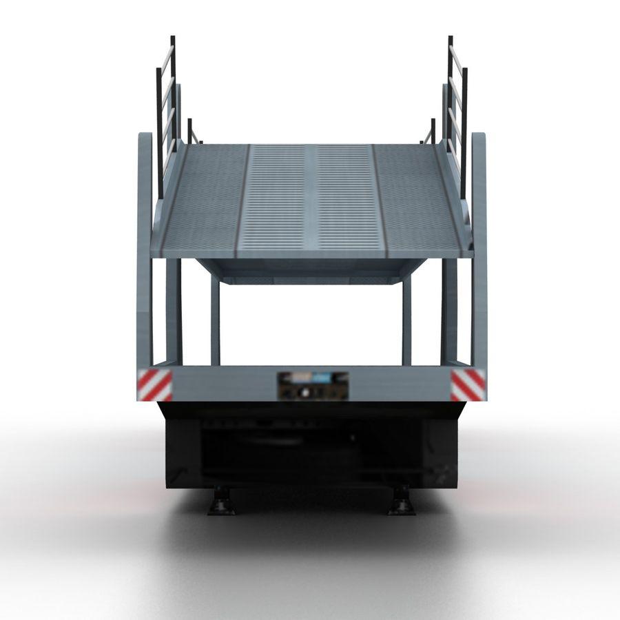 拖车汽车运输车 royalty-free 3d model - Preview no. 4