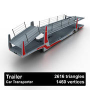 Trailer Car Transporter 3d model