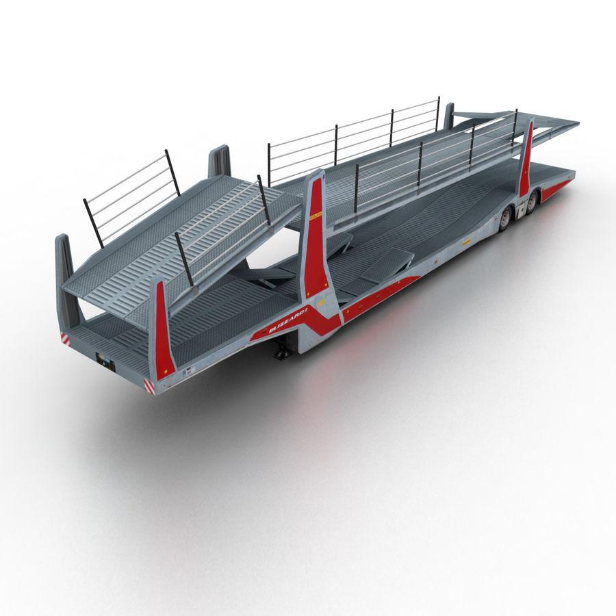 拖车汽车运输车 royalty-free 3d model - Preview no. 1