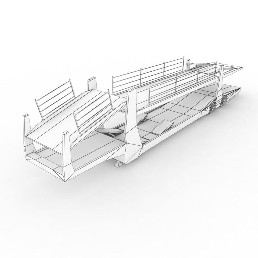 拖车汽车运输车 royalty-free 3d model - Preview no. 9