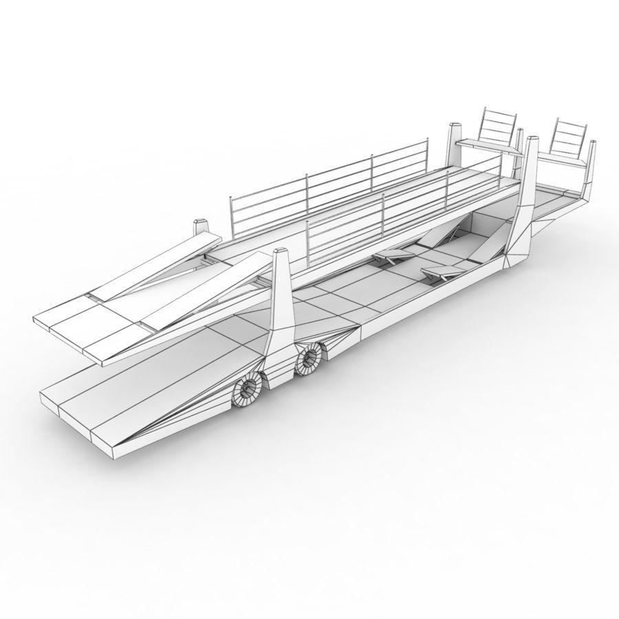 拖车汽车运输车 royalty-free 3d model - Preview no. 10
