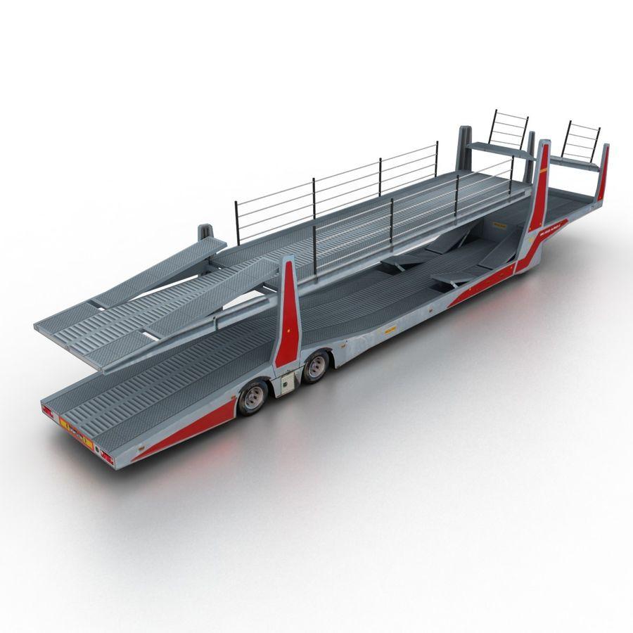 拖车汽车运输车 royalty-free 3d model - Preview no. 2