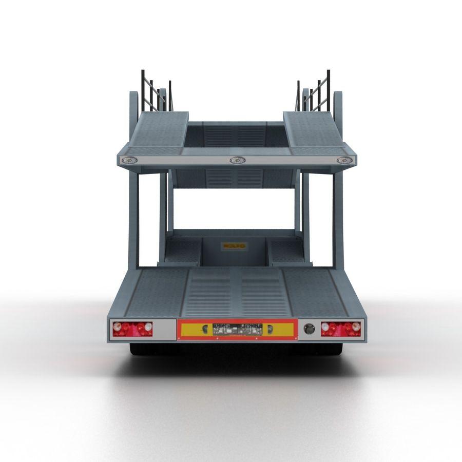 拖车汽车运输车 royalty-free 3d model - Preview no. 5