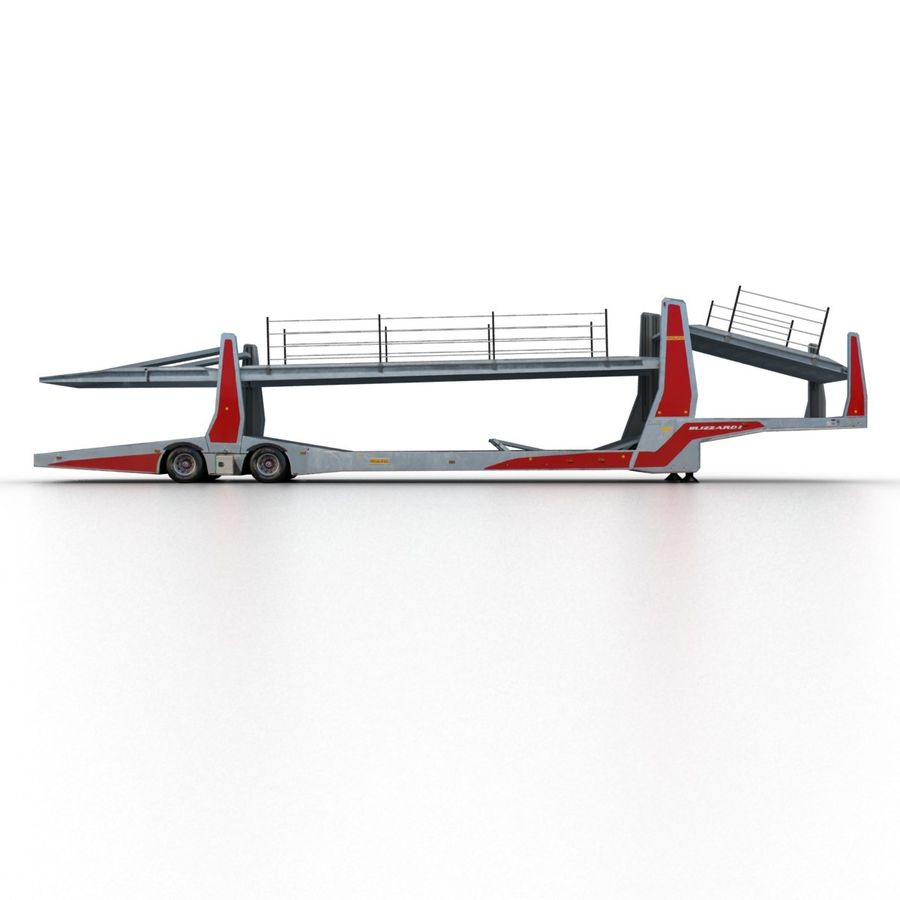 拖车汽车运输车 royalty-free 3d model - Preview no. 3
