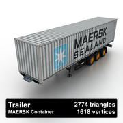 Trailer MAERSK Container 3d model