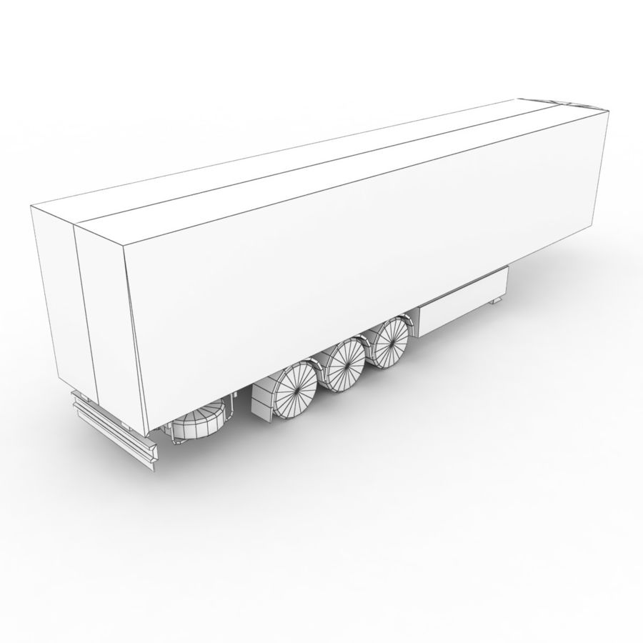 Trailer Refrigerable royalty-free 3d model - Preview no. 7