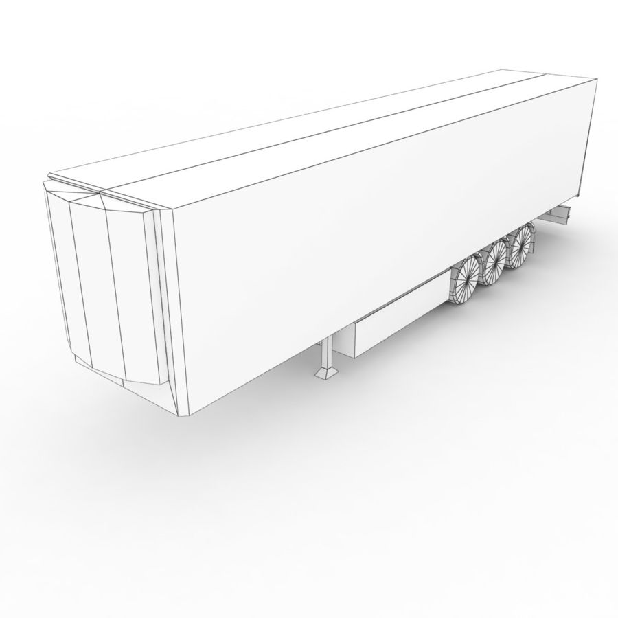 Trailer Refrigerable royalty-free 3d model - Preview no. 6