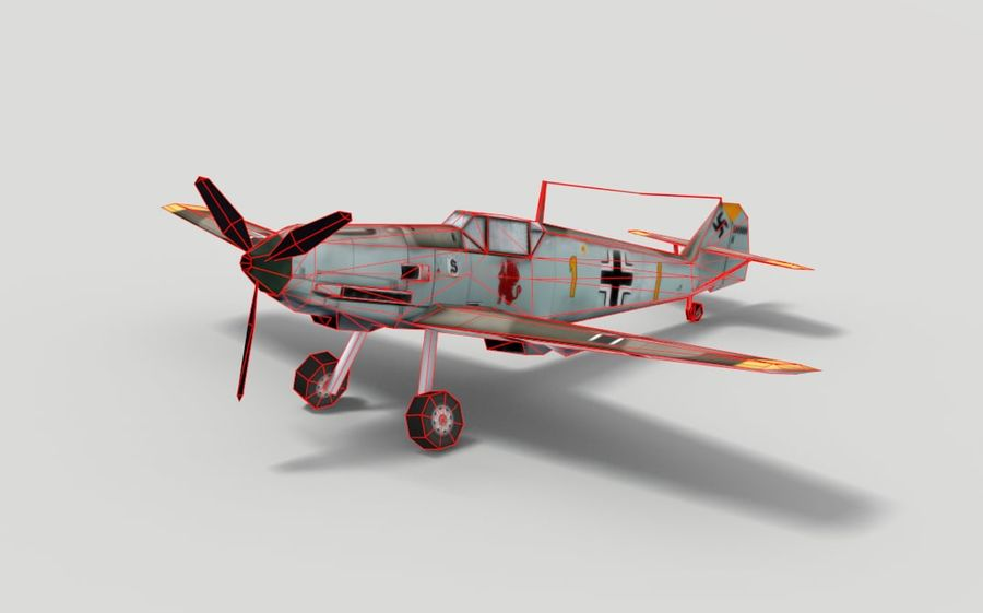 メッサーシュミットBf 109 royalty-free 3d model - Preview no. 6