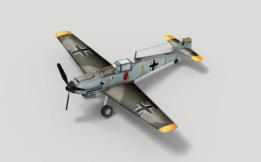 メッサーシュミットBf 109 royalty-free 3d model - Preview no. 3