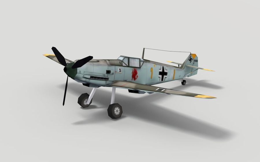メッサーシュミットBf 109 royalty-free 3d model - Preview no. 1